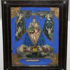 Arte: VIRGEN DEL ROSARIO. COMPOSICION RELIGIOSA DEL SIGLO XIX. Lote 108372375
