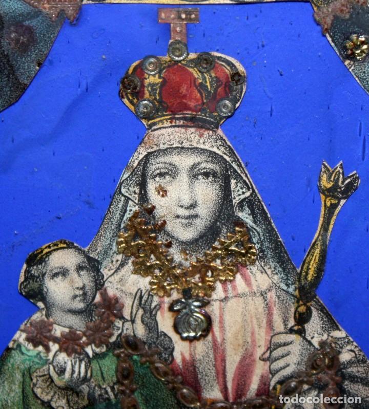 Arte: VIRGEN DEL ROSARIO. COMPOSICION RELIGIOSA DEL SIGLO XIX - Foto 5 - 108372375