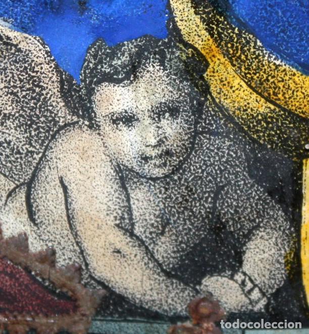 Arte: VIRGEN DEL ROSARIO. COMPOSICION RELIGIOSA DEL SIGLO XIX - Foto 10 - 108372375