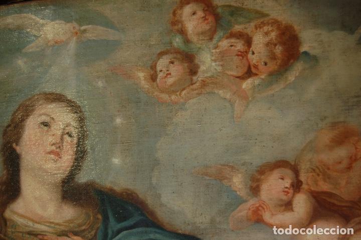 Arte: Inmaculada. Excepcional óleo sobre lienzo de 169,3x123,3 siglo XVIII. Buen estado. Ver foto - Foto 13 - 108383623
