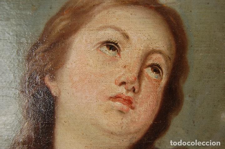 Arte: Inmaculada. Excepcional óleo sobre lienzo de 169,3x123,3 siglo XVIII. Buen estado. Ver foto - Foto 2 - 108383623
