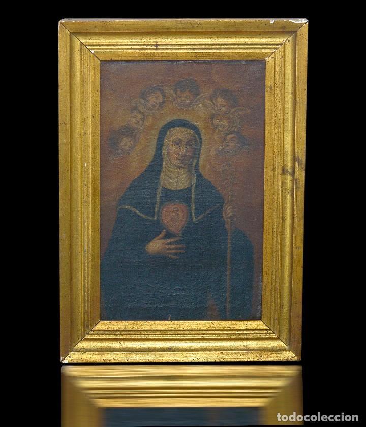 pintura en óleo santa santa gertrudis una de lo - Comprar Pintura ...