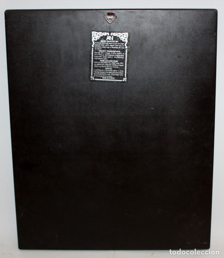 Arte: GRAN ICONO BIZANTINO EN PLATA REPUJADA DE 950. 38 CM. X 30 CM. - Foto 17 - 108428867