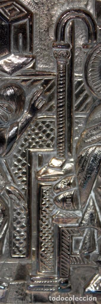 Arte: GRAN ICONO BIZANTINO EN PLATA REPUJADA DE 950. 27,5 CM. X 21,3 CM. - Foto 8 - 108429467
