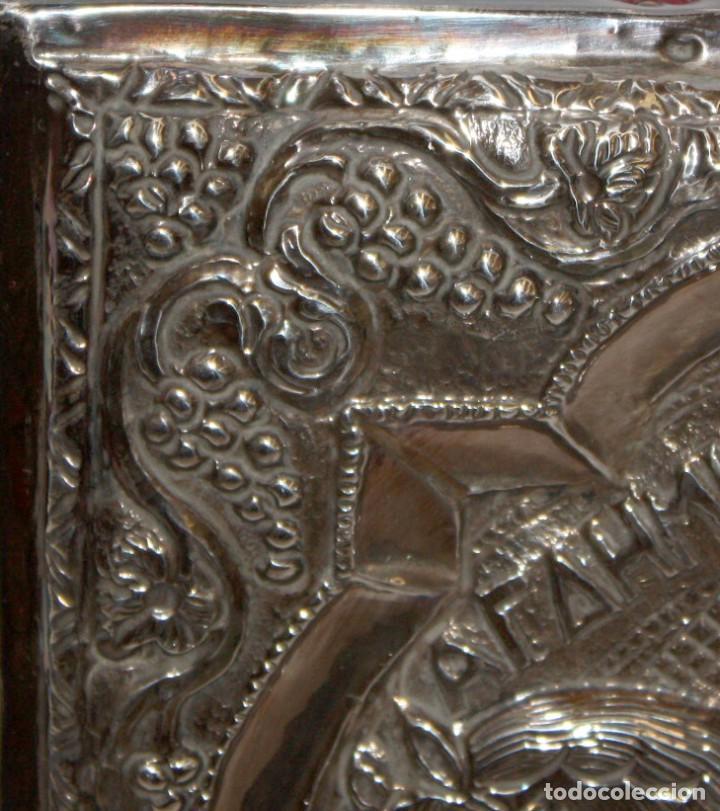 Arte: GRAN ICONO BIZANTINO EN PLATA REPUJADA. 25 CM. X 19 CM. - Foto 5 - 108430043