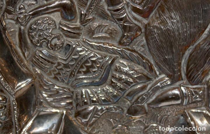 Arte: GRAN ICONO BIZANTINO EN PLATA REPUJADA. 25 CM. X 19 CM. - Foto 8 - 108430043