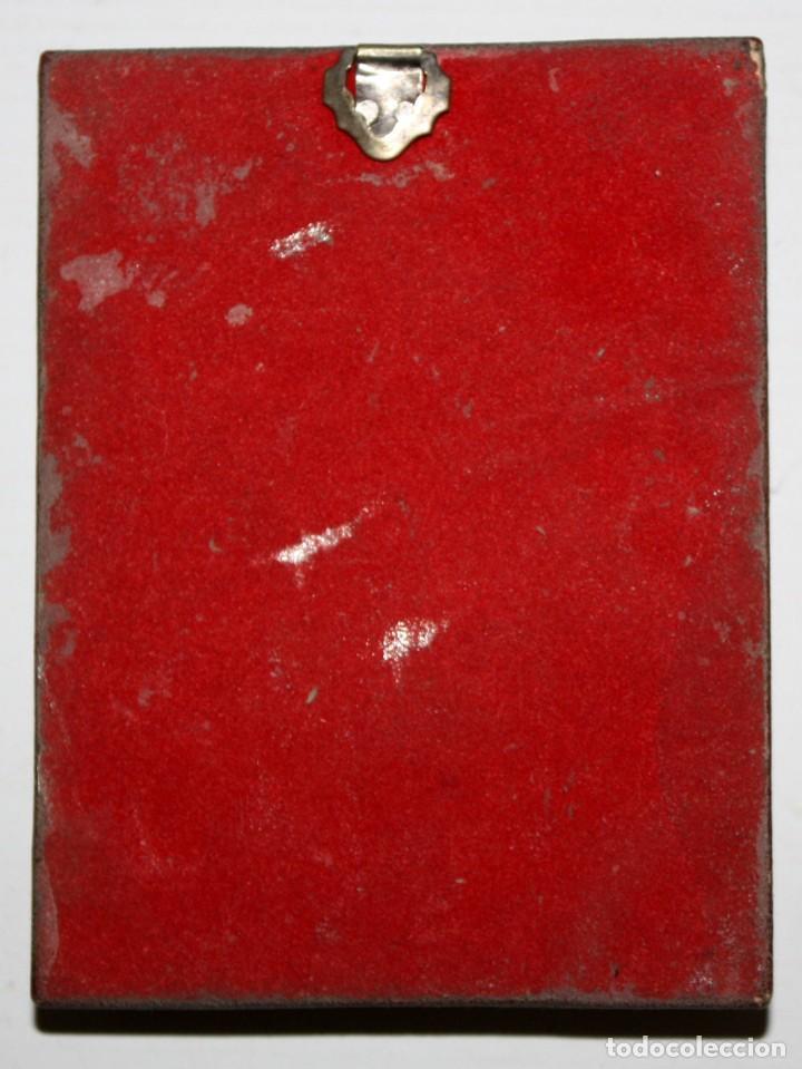 Arte: BONITO ICONO BIZANTINO EN PLATA REPUJADA. 11 CM. X 8,3 CM. - Foto 7 - 108430811