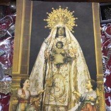 Arte: ANTIGUA CROMOGRAFIA VIRGEN DE LA MERCED PATRONA DE JEREZ - MEDIDA 43X27 CM - RELIGIOSO. Lote 108503075