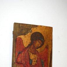 Arte: ANTIGUO ICONO ORTODOXO DE MADERA - ARCÁNGEL MICHAEL . Lote 108504011