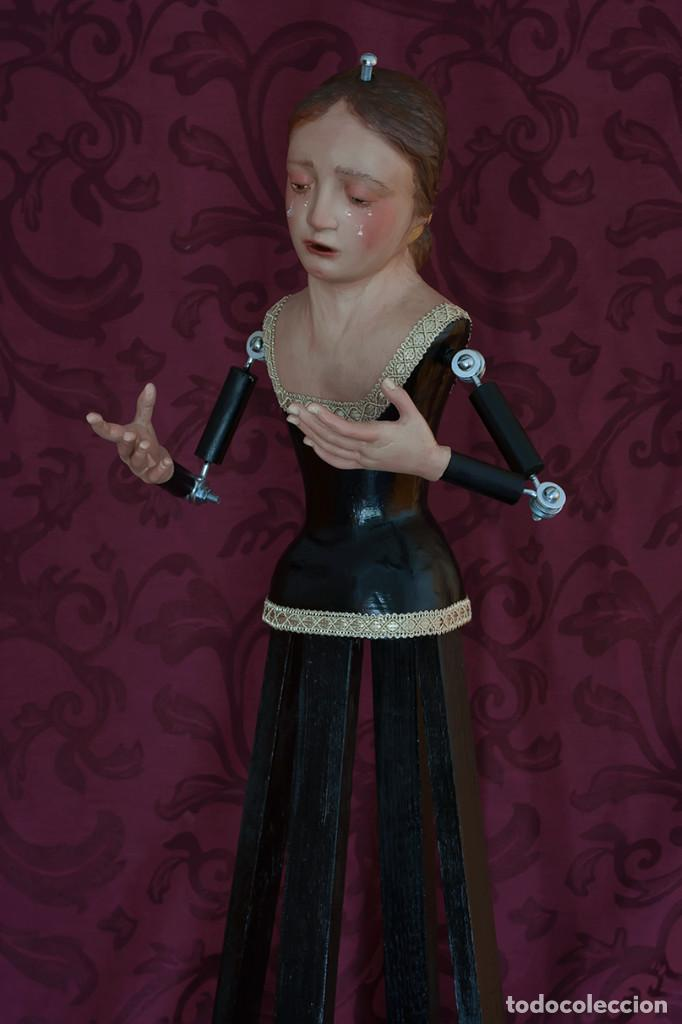 Arte: Virgen Dolorosa de 70 ctm de candelero - Foto 2 - 108811363