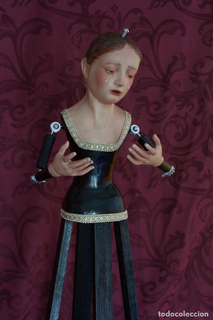 Arte: Virgen Dolorosa de 70 ctm de candelero - Foto 3 - 108811363