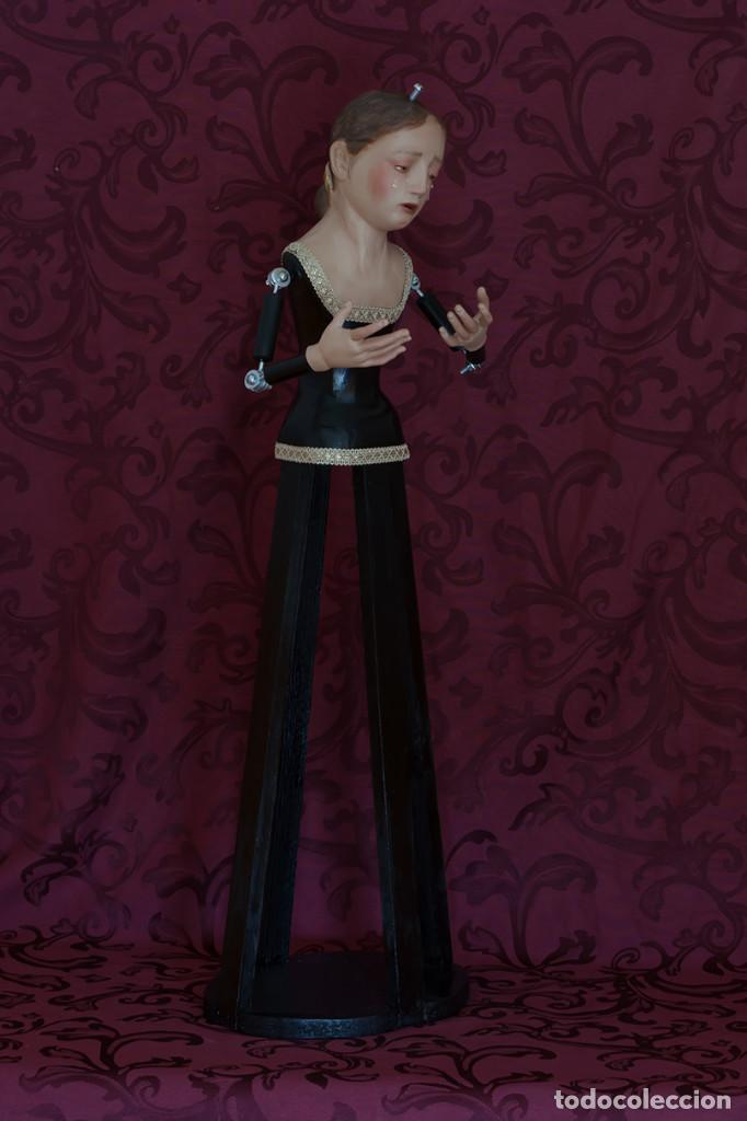 Arte: Virgen Dolorosa de 70 ctm de candelero - Foto 4 - 108811363