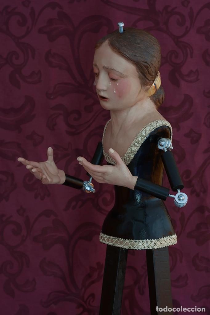 Arte: Virgen Dolorosa de 70 ctm de candelero - Foto 10 - 108811363