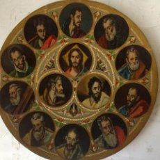 Arte: ANTIGUA PINTURA AL OLEO SIGLO XIX , JESUS Y LOS APOSTOLES . Lote 108834411