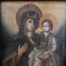 Arte: MADONNA DEL POPOLO. OLEO SOBRE LIENZO. ITALIA, SIGLO XVII. MEDIDAS DE 87 X 68 CM.. Lote 108843667