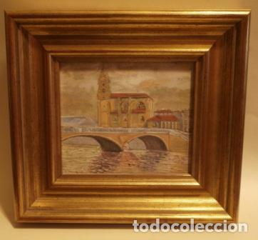 PINTURA AL OLEO SAN ANTON (BILBAO) PINTADO POR MUNILLA (Arte - Arte Religioso - Pintura Religiosa - Oleo)