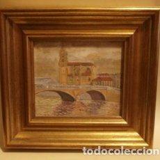 Arte: PINTURA AL OLEO SAN ANTON (BILBAO) PINTADO POR MUNILLA. Lote 108857951