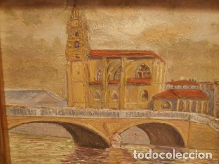 Arte: Pintura al oleo San Anton (Bilbao) pintado por Munilla - Foto 3 - 108857951