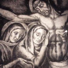 Arte: JESÚS, LA VIRGEN Y MARIA MAGDALENA. AGUAFUERTE. FIRMADO VILA ARRUFAT. ESPAÑA. XX. Lote 108869959