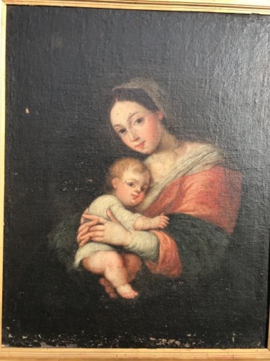Arte: La Virgen y el niño.SXVII. - Foto 7 - 58211207