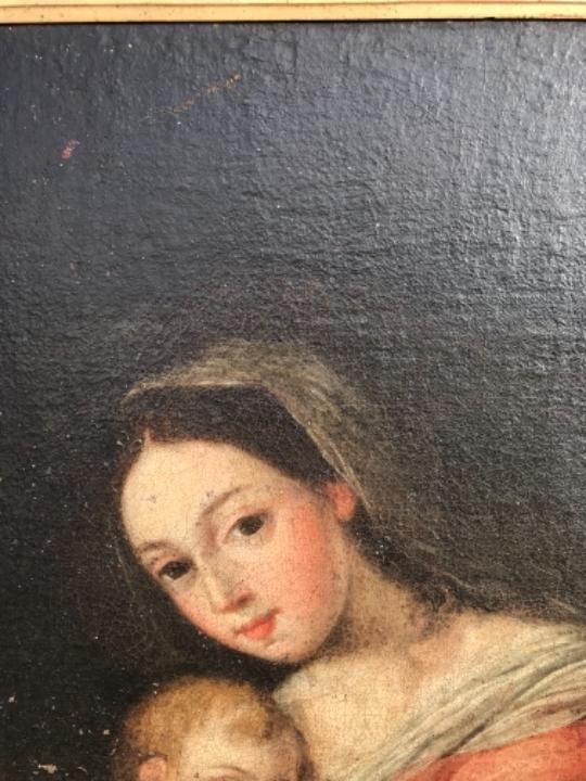 Arte: La Virgen y el niño.SXVII. - Foto 9 - 58211207