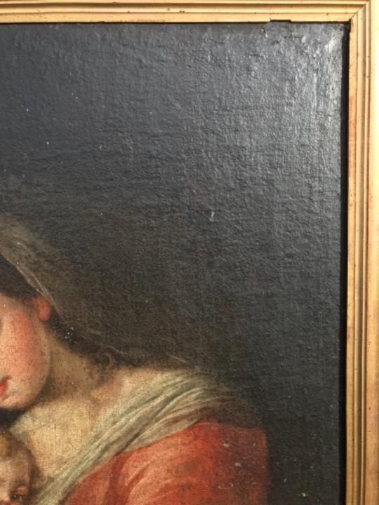 Arte: La Virgen y el niño.SXVII. - Foto 11 - 58211207