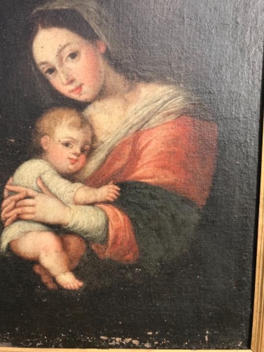 Arte: La Virgen y el niño.SXVII. - Foto 12 - 58211207