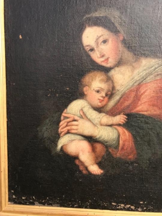Arte: La Virgen y el niño.SXVII. - Foto 13 - 58211207