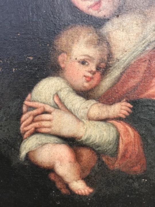 Arte: La Virgen y el niño.SXVII. - Foto 14 - 58211207