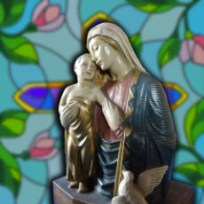 Arte: LA VIRGEN MARÍA CON EL NIÑO JESÚS, J. MARIA CAMPS. Lote 108927287
