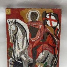 Arte: TRABAJO DE LACA Y NACAR ESCOLA MASSANA BARCELONA SAN JORGE Y EL DRAGON. Lote 108928431