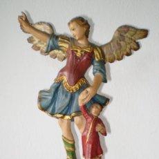 Arte: TOBÍAS Y EL ÁRCANJEL SAN RAFAEL TALLA DEL SIGLO XVIII. Lote 108994295