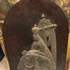 Arte: VIRGEN DE LAS ANGUSTIAS DE GRANADA EN METAL PLATEADO. Lote 109035443