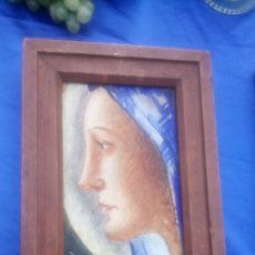 Arte: VIRGEN EN CERÁMICA, REVERSIBLE 36,5 X 21,7 CM. Lote 109068672