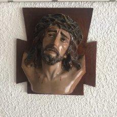 Arte: CABEZA DE CRISTO CRUCIFICADO DE ESTUCO, OLOT? 1950'S.. Lote 109139287