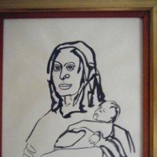 Arte: LA VIRGEN Y EL NIÑO. FIRMADO : BURGOS. Lote 109159871
