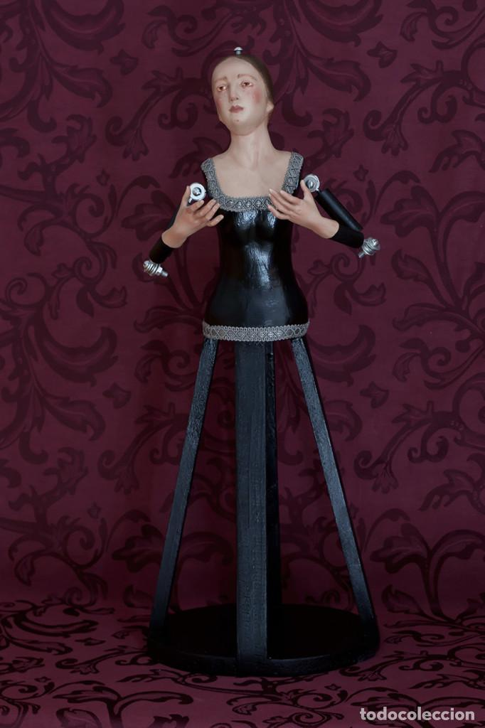 Arte: Bonita virgen Dolorosa de candelero de 57 ctm sin vestir - Foto 2 - 109276367