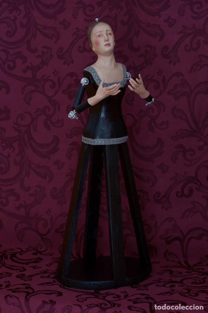 Arte: Bonita virgen Dolorosa de candelero de 57 ctm sin vestir - Foto 6 - 109276367