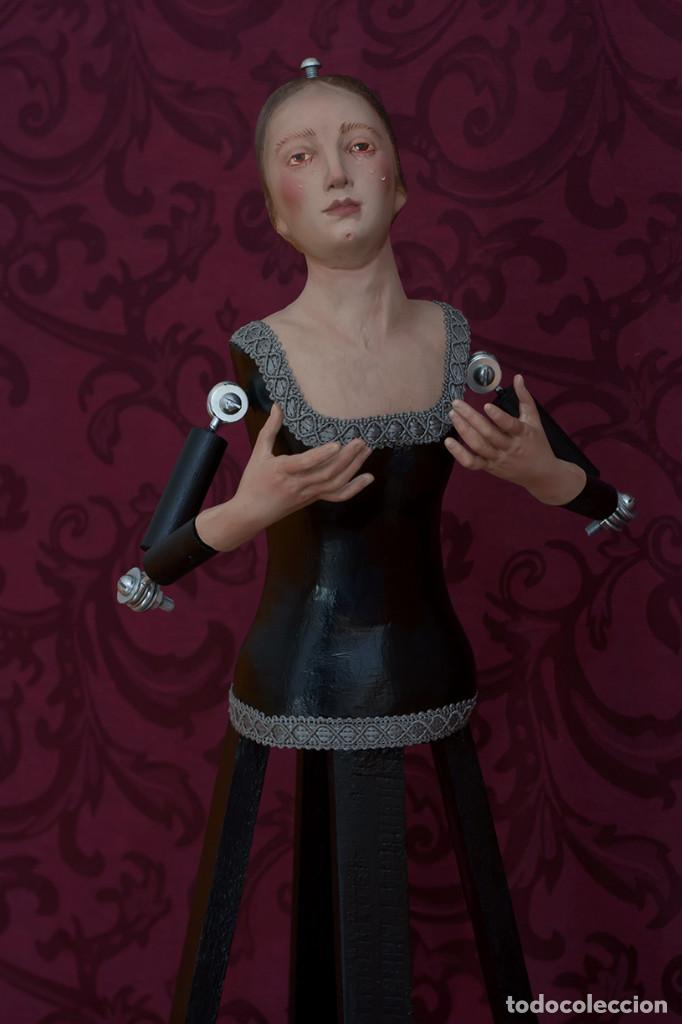 Arte: Bonita virgen Dolorosa de candelero de 57 ctm sin vestir - Foto 7 - 109276367