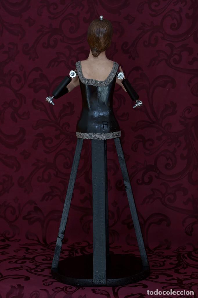 Arte: Bonita virgen Dolorosa de candelero de 57 ctm sin vestir - Foto 9 - 109276367
