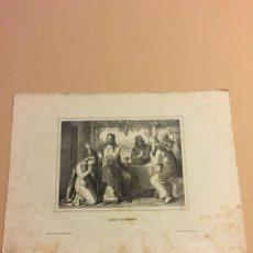 Arte: LITOGRAFIA JESÚS Y LA PECADORA. Lote 109293720