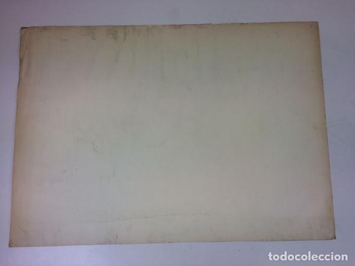 Arte: LA ÚLTIMA CENA. LITOGRAFIA A COLOR. SOBRE PAPEL. FIRMADO COLLET(?). ESPAÑA. SIGLO XX - Foto 7 - 109371155