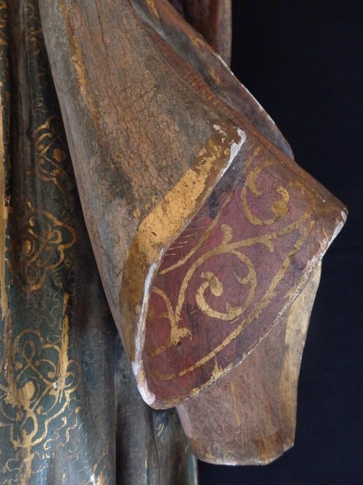 Arte: Santa Bárbara. Escultura en madera tallada con 77 cm de altura. Siglo XVII. - Foto 10 - 109406551