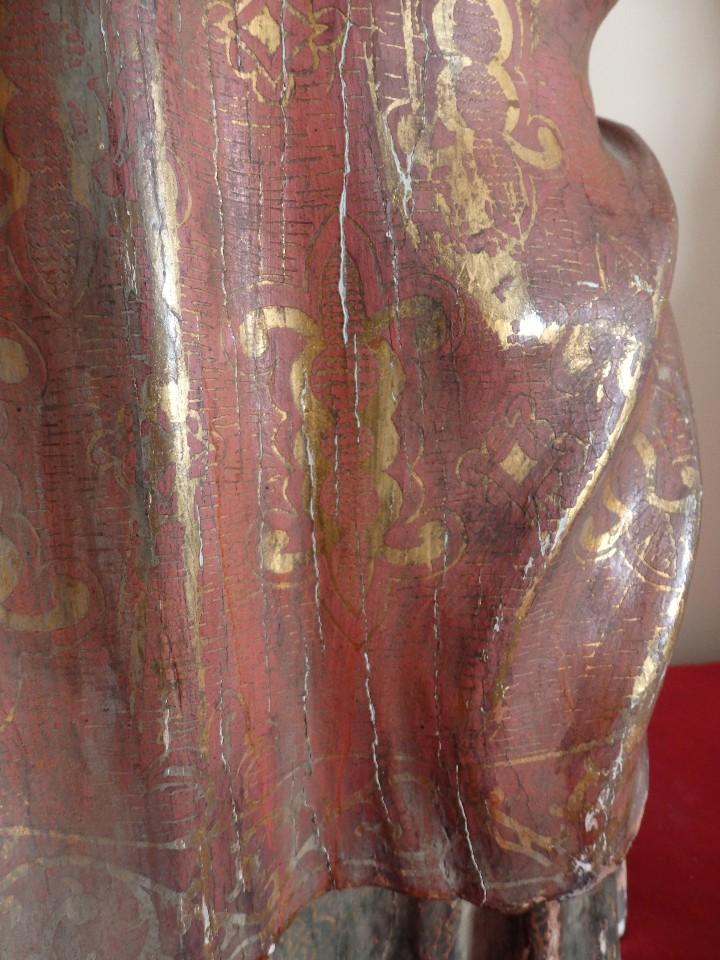 Arte: Santa Bárbara. Escultura en madera tallada con 77 cm de altura. Siglo XVII. - Foto 19 - 109406551
