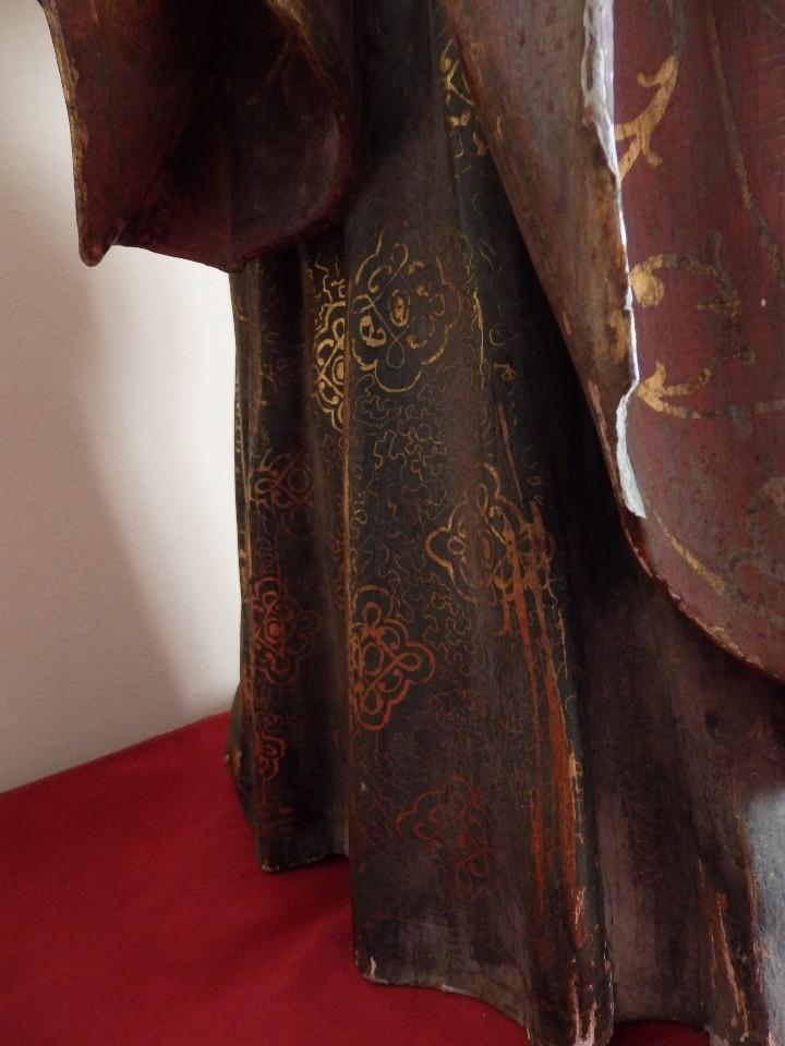 Arte: Santa Bárbara. Escultura en madera tallada con 77 cm de altura. Siglo XVII. - Foto 20 - 109406551