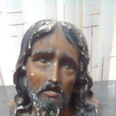 Arte: TALLA ANTIGUA DE CABEZA DE CRISTO. Lote 109418007