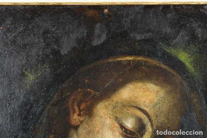 Arte: Óleo sobre cobre Virgen con niño siglo XVII - Foto 3 - 109493567