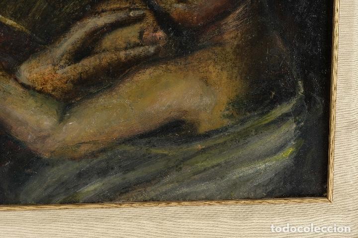 Arte: Óleo sobre cobre Virgen con niño siglo XVII - Foto 7 - 109493567