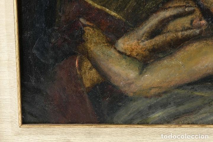 Arte: Óleo sobre cobre Virgen con niño siglo XVII - Foto 8 - 109493567