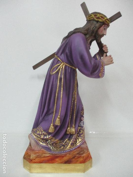 PRECIOSO CRISTO NAZARENO - ESTUCO POLICROMADO - 58 CM ALTURA - TALLERES DE OLOT (Arte - Arte Religioso - Escultura)